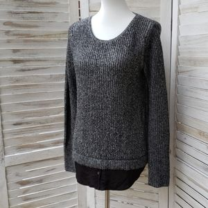 Joie Cashmere and Wool Sweater in White and Black